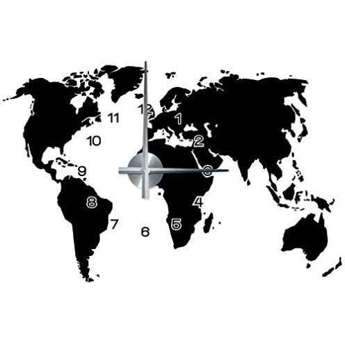 Wandkings Weltkarte-Wanduhr Wandtattoo