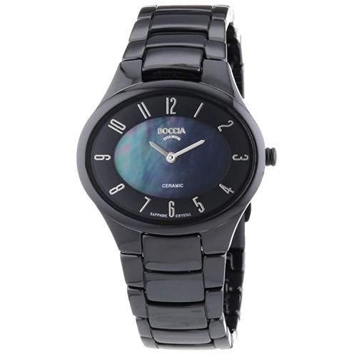 Boccia Keramic Titan Damen Uhr Schwarz 3216-02