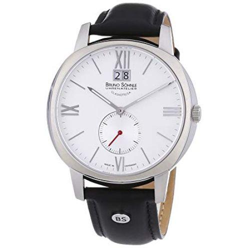 Bruno Söhnle Herren-Armbanduhr XL Analog Quarz Leder 17-13146-231