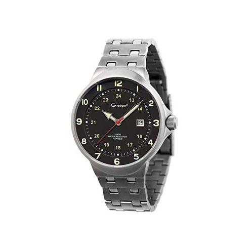 Greiner Titan Armbanduhr Jagduhr 1219-E