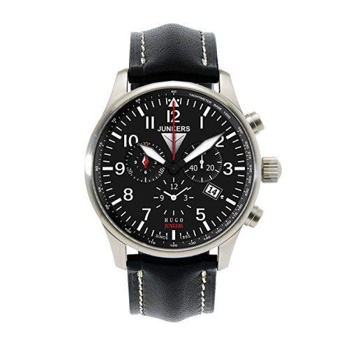 Junkers Herren-Uhren Rund Analog Quarz Leder 32001727