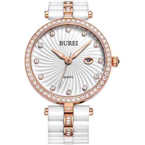 BUREI Elegante Damen Quartz Armbanduhr