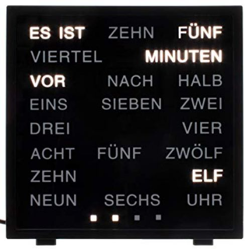 Out of The Blue LED Uhr mit Deutscher Wort-Anzeige