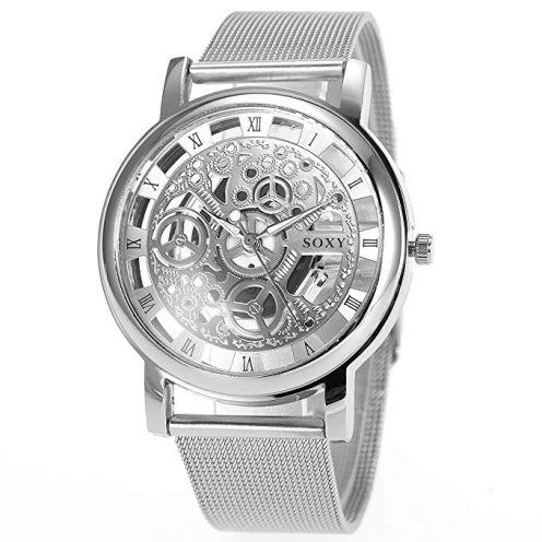SIBOSUN Armbanduhr Männer mit Skelett