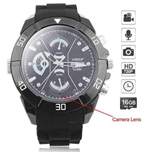 WISEUP 16GB 1280x720P HD Spycam Armbanduhr