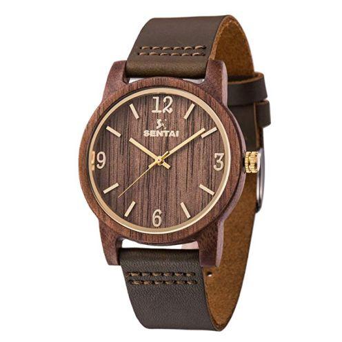 WOGREZ Sentai Herren Holz Armbanduhr