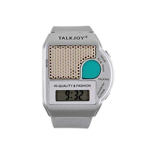 TalkJoy Sprechende Armbanduhr Silber