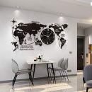 FCX-CLOCKUHR 3D Acryl Weltkarte mit Uhren Set