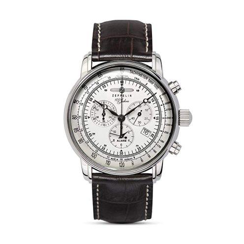 Zeppelin Herren-Uhren Rund Analog Quarz Leder 32003162