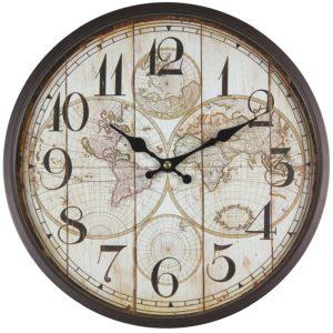 Weltkarten Uhren